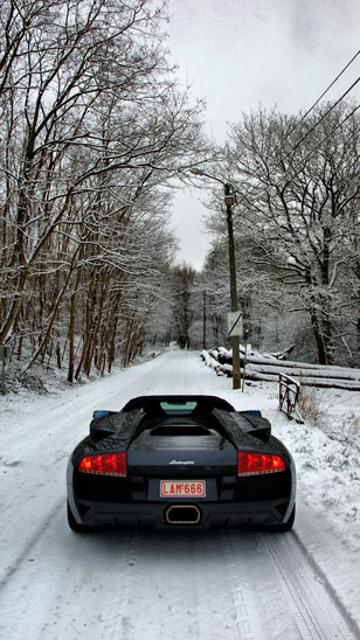 Lamborghini winter