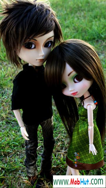 Download Doll couple Signs And Sayings For mobile cell phone.