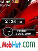Nokia x2 clock theme