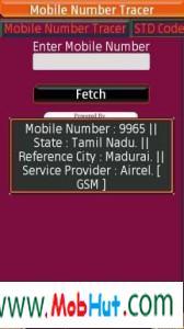 Mobile number tracer