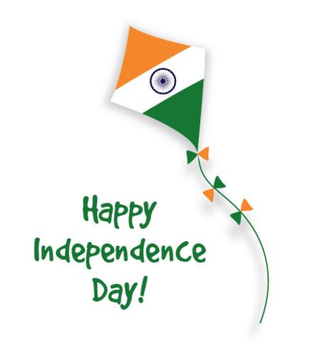 Indian flag on kite
