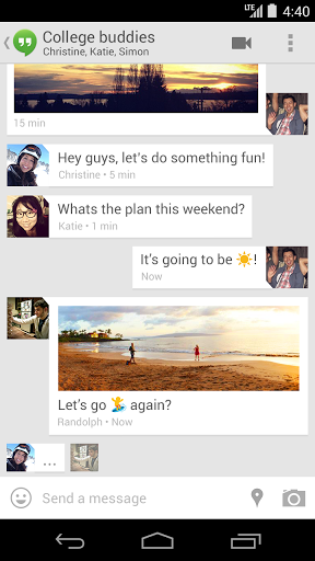 Hangouts (replaces talk)