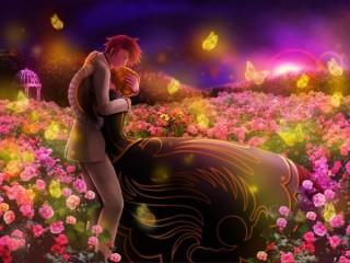 Download Romantic love couple 3d wallpaper 600x450 - Love for mobile phone..