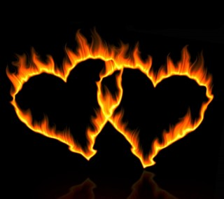 Fire couple hearts