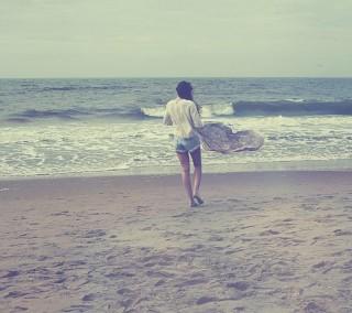 Girl seaside
