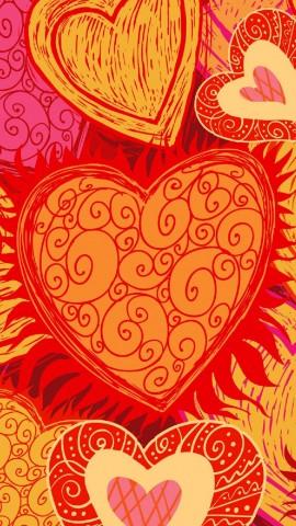 Art hearts iphone 5 wallpaper