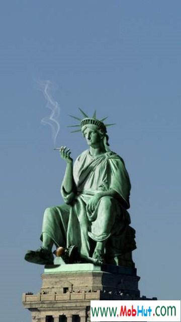 Liberty smoking pot