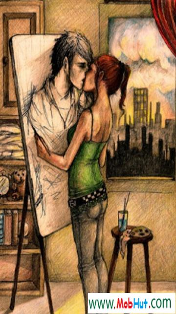 Painting kiss