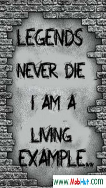 Legends never