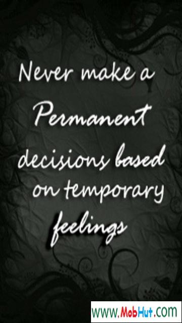 Never make