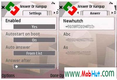 Answer or hangup