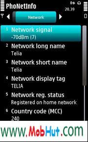Phone info application
