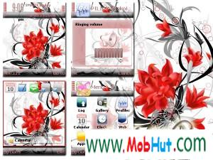 Vector flower theme