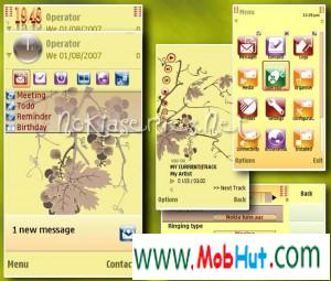 Grapes s60v5 theme