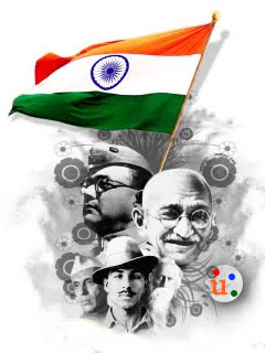 Flags indian freedom figh