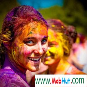 Lovely holi girl image