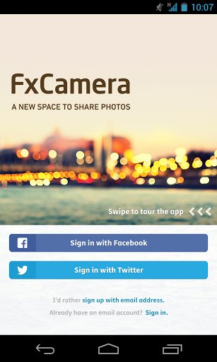 Fxcamera a free camera app
