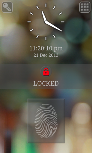 Fingerprint keypad lock screen