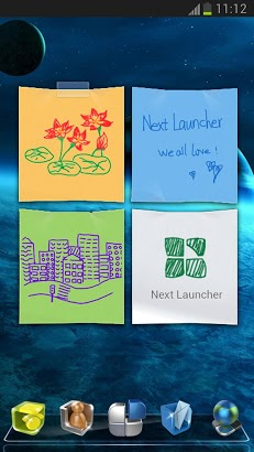 Next launcher 3d note widget