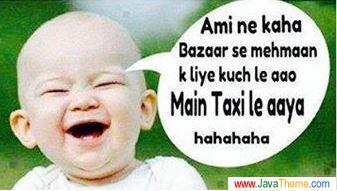 Funny quote by a baby