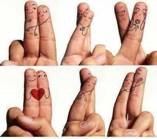 Fingers hug